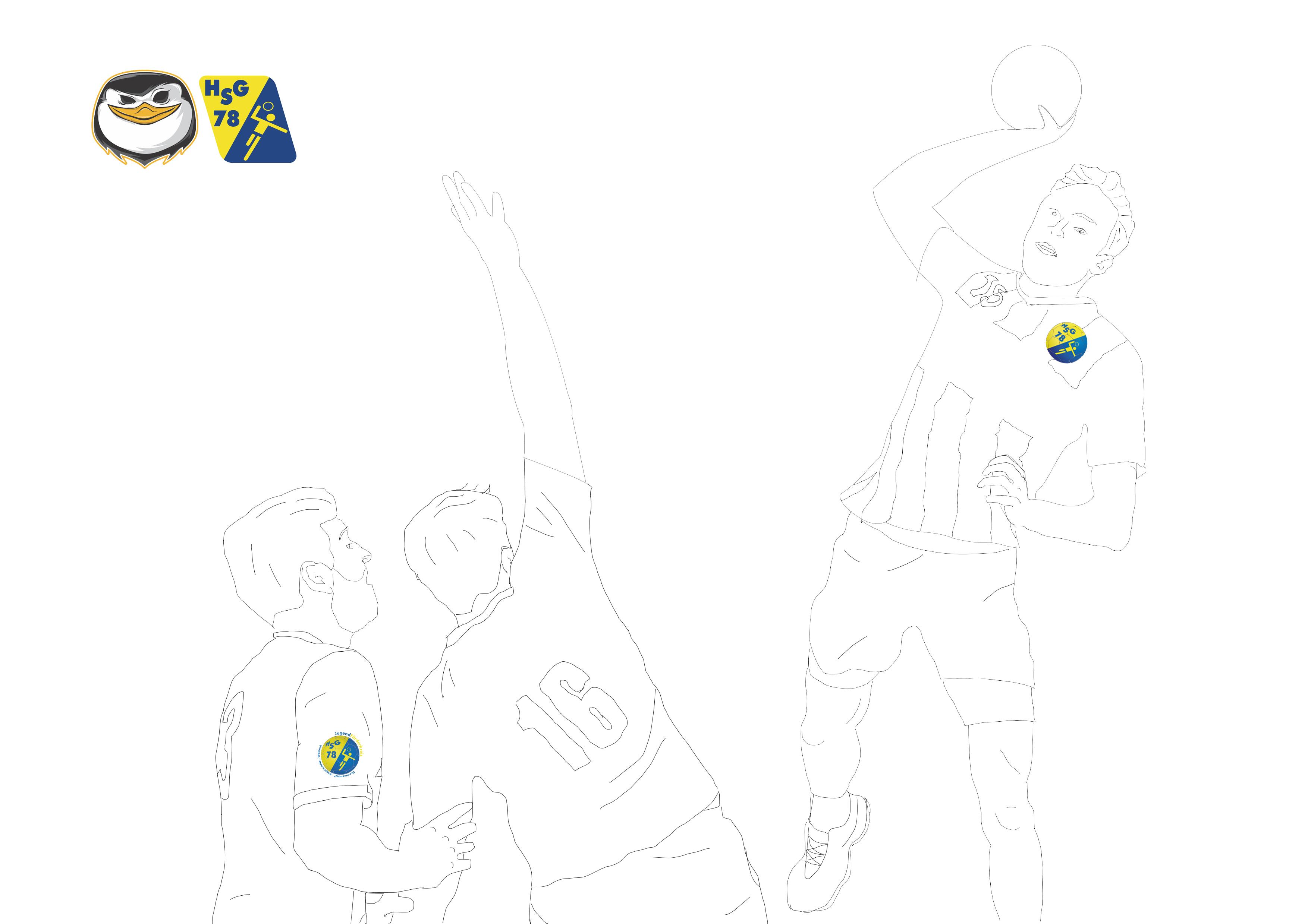 Malvorlage, HSG Gremmendorf-Angelmodde, Handball, Sport, Corona, Zeitvertreib, Spaß, Malen