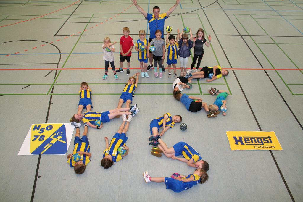 Hanball Münster HSG Gremmendorf Angelmodde Minis Trikots Sponsor Hengst
